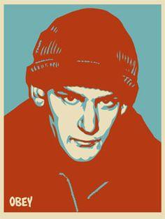 Happy belated 53rd birthday to the punk rock legend, Ian MacKaye #OBEYGiant #ShepardFairey #IanMacKaye #MinorThreat #Fugazi