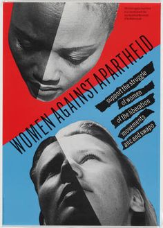Women Against Apartheid, offset lithograph by Wild Plakken (Dutch, founded 1977), Lies Ros (Dutch, born 1952), and Rob Schroder (Dutch, born 1950), 1984