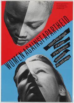 Women Against Apartheid, offset lithograph by Wild Plakken (Dutch, founded 1977), Lies Ros (Dutch, born 1952), and Rob Schroder (Dutch, born 1950), 1984