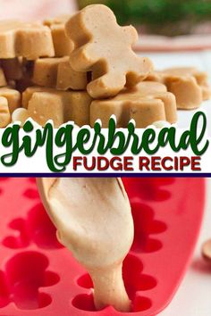 This easy, homemade gingerbread fudge is a delish holiday treat that is quick and simple to make from scratch. Christmas Cookies Gift, Christmas Fudge, Christmas Sweets, Fudge Recipes, Candy Recipes, Sweet Recipes, Dessert Recipes, Holiday Treats, Homemade Christmas Treats