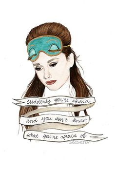 Celebrity Quotes : Breakfast at Tiffany's Audrey Hepburn Holly Golightly Watercolour Portrait PRINT - Quotes Daily George Peppard, Audrey Hepburn Kunst, Audrey Hepburn Tattoo, Series Quotes, Book Quotes, Breakfast At Tiffany's Quotes, Eat Breakfast, Fanart, My Sun And Stars