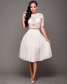 Be the Belle at your Bridal Shower in this two piece stunner!