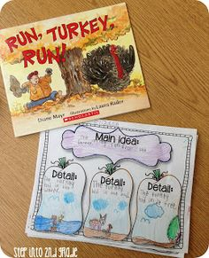 Step into 2nd Grade with Mrs. Lemons... Main idea Thanksgiving book...lots of cute ideas on her site!