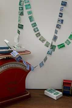 stamp garland...wow! 16 Sparrows | Sarcasm folded in half
