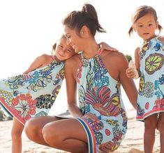 Mother Daughter Dresses Summer 2020 Mommy And Me Clothes Beach Lacing Ocean Print Family Look Mom Girl Family Matching Outfits Mommy And Me Dresses, Mommy And Me Outfits, Mom Dress, Dresses Kids Girl, Party Dresses For Women, Beach Dresses, Dress Beach, Bride Dresses, Halter Dresses
