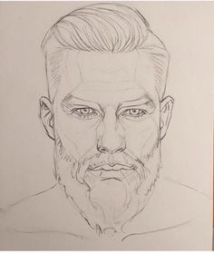 Bearded dude lineart
