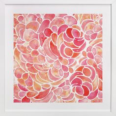 Abstract Peony Watercolor by Catherine Sullivan at minted.com