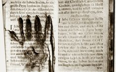 """A prayer book supposedly """"singed by the hands of of a soul in purgatory"""" from the Museum of the Holy Souls in Purgatory, Rome. Long on my Museum pilgrimage wish-list :) Scary Places, Haunted Places, Wicca, Catholic Doctrine, Catholic Saints, Christianity, Catholic News, Collections Of Objects, Urban Legends"""