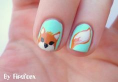 Firefoux Nail art Designs For Halloween - She Look Book