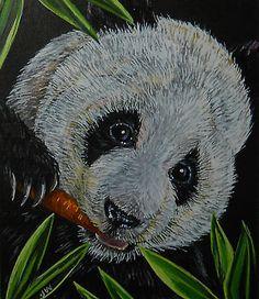 Panda-bear-animal-wildlife-print-of-painting
