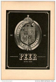 Original-Werbung/Inserat/ Anzeige 1950 - 1/1-SEITE - PEER KING-SIZE ZIGARETTEN  - ca. 250 X 160 mm