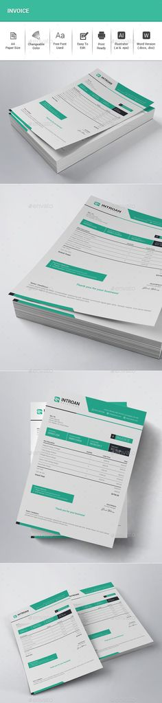 Invoice  Estimate Template  Business Business Design And