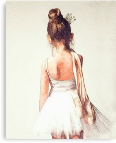 Off to Class: Sweet Ballerina Watercolor Ballet Dance Fine Art Print, Cottage Chic Home Decor, Ballet Dance Lover, bedroom nursery art Ballerina Kunst, Ballerina Drawing, Ballet Drawings, Art Ballet, Ballet Decor, Ballet Dancers, Ballerina Bedroom, Girls Dance Bedroom, Ballerina Nursery