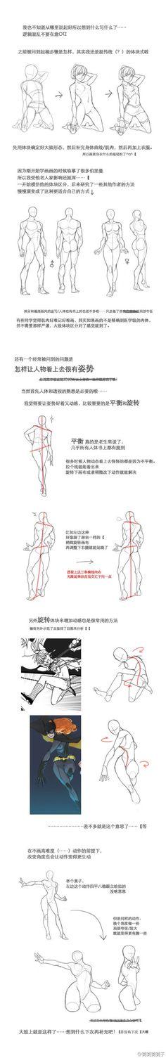 【人体教材】人体结构和动态的学习教程~简...@Six-采集到教程(1129图)_花瓣插画