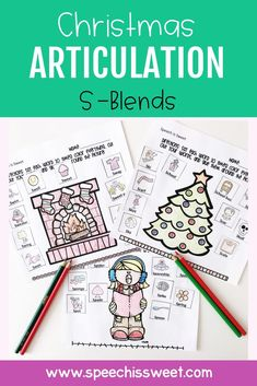 This Christmas Articulation Activities packet features 105 pages of NO PREP articulation activities! These activities are great for speech therapy mixed groups and can be sent as homework. This packet features s-blends. | Speech is Sweet Articulation Therapy, Articulation Activities, Speech Therapy Activities, Language Activities, Speech Language Therapy, Speech And Language, Christmas Speech Therapy, Sweet Words, Therapy Ideas