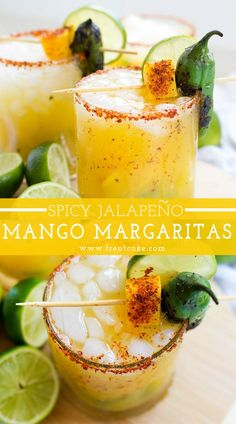 Spicy Mango Jalapeño Margarita - Getränke -coole drinks - cocktails - The sweet, spicy and delicious mango margarita recipe to make all summer long! Fun Cocktails, Fun Drinks, Yummy Drinks, Cocktail Drinks, Cocktail Movie, Cocktail Attire, Cocktail Shaker, Beverages, Best Summer Cocktails