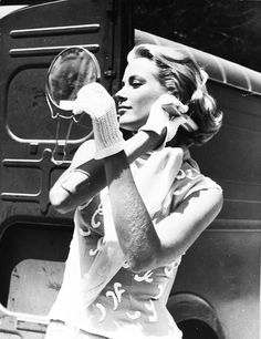 """Grace Kelly, one of the most beautiful women to ever walk this planet, on the set of """"To Catch a Thief"""""""