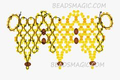 Free Pattern For Necklace Honey Nectar   Beads Magic
