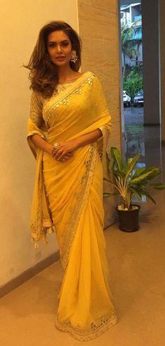 Haute spot for Indian Outfits. Pakistani Outfits, Indian Outfits, Ethnic Outfits, Ethnic Dress, Anarkali, Lehenga, Sabyasachi, Sari Design, Yellow Saree