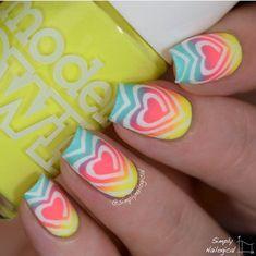 Cute Nail Art Designs, Nail Art Designs 2016, Nail Polish Designs, Nails Design, Cool Easy Nails, Easy Nail Art, Simple Nails, Cool Nail Ideas, Christmas Nail Art