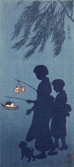 "JAPANESE Art: ""Summer Night"" ~ Shirô Kasamatsu (1898-1991) _____________________________ Reposted by Dr. Veronica Lee, DNP (Depew/Buffalo, NY, US)"
