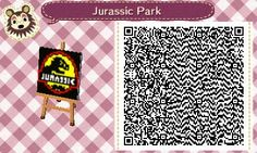 Supernatural Castiel Animal Crossing New Leaf QR Codes   Also, if you want to have the Jurassic Park Theme song: