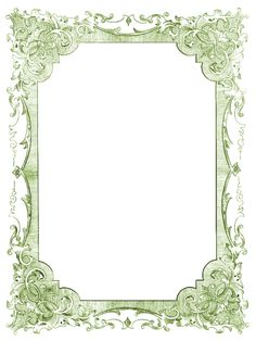 Vintage Clip Art - Romantic Frames - Christmas Colors - The Graphics Fairy