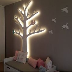 Lighted Wall Tree