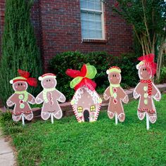 Christmas Yard Decor, Gingerbread Man, Christmas Decor, Christmas Door Hanger via Etsy