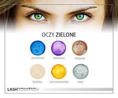 Oczy zielone - kolory, które do nich pasują. #oczy #makijaż #kolory #cienie #oczyzielone #inspiracje