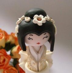 Mini Doll in Golden Ivory and white