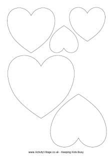 Free heart templates to make valentines