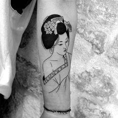 "215 mentions J'aime, 2 commentaires - sixo (@sixosantos) sur Instagram : ""#sixo #tattoo #tatouage #paris #lesmauxbleus #blackworker #blacktattoo #blacktattooart #geisha…"""