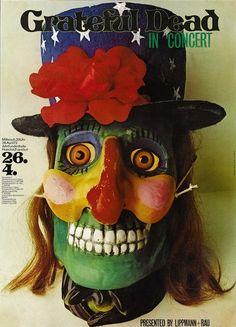 Grateful Dead concert poster, 1972.