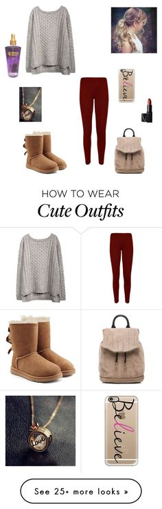 casual fall outfit #2 by synclairel on Polyvore featuring WearAll, NARS Cosmetics, rag & bone, Casetify, UGG Australia, Victoria's Secret, Fall, cute, casual and ootd