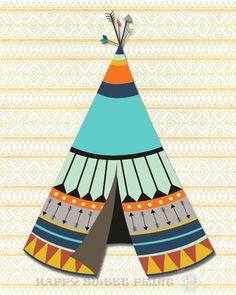 65 Ideas Screen Printing Shop Canvases For 2019 Tribal Nursery, Boho Nursery, Woodland Creatures, Woodland Animals, Marvel Nursery, Tribal Animals, Arrow Art, Bear Print, Wall Prints