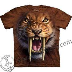 SMILODON, SABERTOOTH TIGER, The Mountain T-shirt