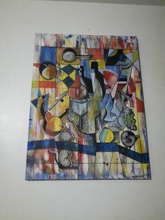 """""""Bocuse"""" Acrylique de Marie Da Cruz Vendue"""