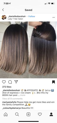 – # shoulder length - All For Hair Color Trending Hair Color Balayage, Hair Highlights, Ombre Hair, Hairstyles Haircuts, Straight Hairstyles, Medium Hair Styles, Short Hair Styles, Colored Hair Tips, Brunette Hair