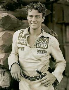 John Wayne,  handsome young man!