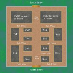 vegetable garden layouts | Home Garden: Gardening in the Home Landscape: Vegetable Garden Layout ...