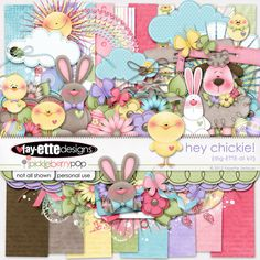 "Photo from album ""Hey Chickie"" on Yandex. Scrapbooking Freebies, Free Digital Scrapbooking, Digital Scrapbook Paper, Digital Papers, Girl Themes, Paper Butterflies, Printable Paper, Free Baby Stuff, Scrapbook Albums"