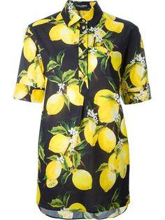 Dolce & Gabbana рубашка с принтом лимонов