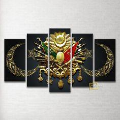Özel Tasarım Osmanlı Arması 5 Parça Kanvas Tablo   Indirim 99,00 TL ve ücretsiz kargo ile n11.com'da! Plustablo Kanvas Tablo fiyatı Dekorasyon