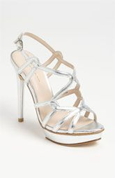 e4957465f4f Pageant nude gold silver strappy shoes