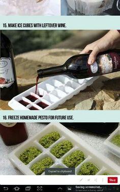 Freeze leftover wine