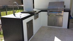 Outdoor Kitchen by Brandel Masonry in Boca Raton, Florida.