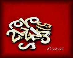 Čísla 4,5 cm - arabské (drevené)