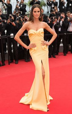 """2015 Cannes Film Festival """"Ice and the Sky"""" Premiere - Izabel Goulart in Georges Hobeika"""
