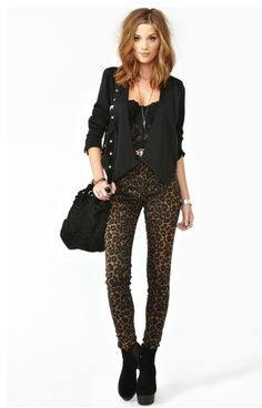 Leopard and black